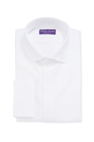Ralph Lauren Purple Label Men's Bond Basic Pleated Barrel-Cuff Dress Shirt