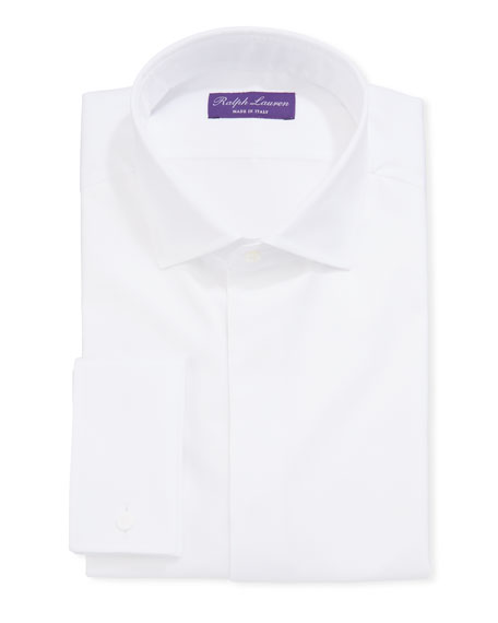 Ralph Lauren Men's Bond Basic Pleated Barrel-Cuff Dress Shirt