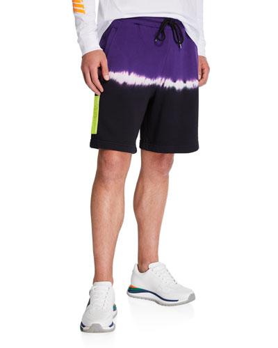 Men's Tie-Dye Stripe Sweat Shorts