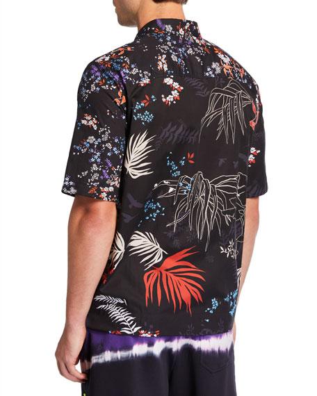 Diesel Men's Graphic Floral Short-Sleeve Sport Shirt