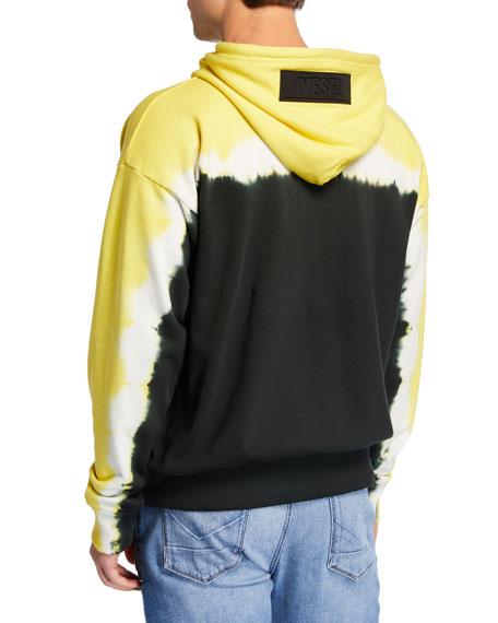 Diesel Men's S Alby Deep Tie-Dye Pullover Hoodie