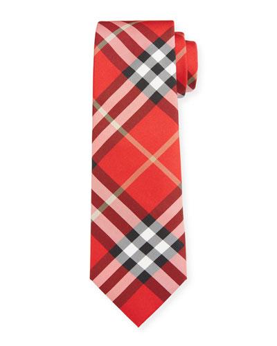 Blade 7cm Vintage Scale Check Tie
