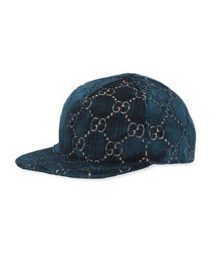 2ad94125eba Gucci GG Supreme Velvet Baseball Hat