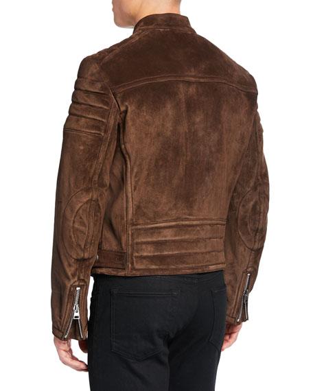 TOM FORD Men's Icon Suede Biker Jacket