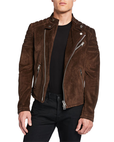 Men's Icon Suede Biker Jacket
