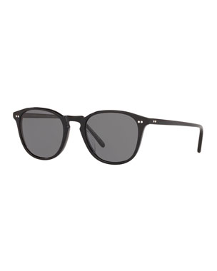 4b6b6dd67ef Oliver Peoples Men s Forman L.A. Polarized Round Acetate Sunglasses