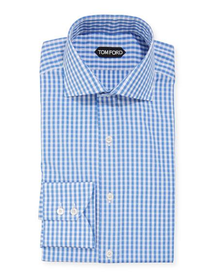 TOM FORD Men's Gingham Dress Shirt