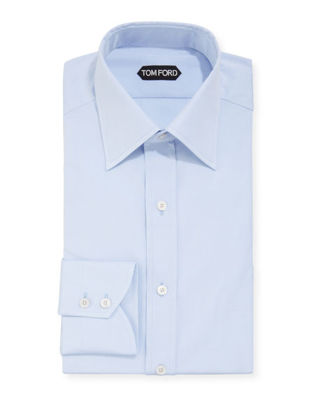 TOM FORD Men's Solid Poplin Dress Shirt