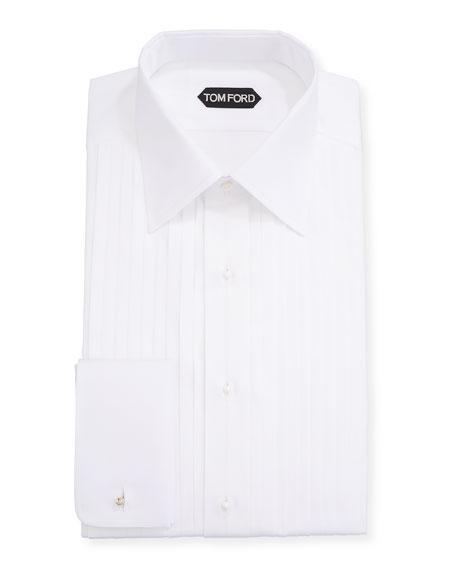 TOM FORD Men's Plisse Formal Dress Shirt