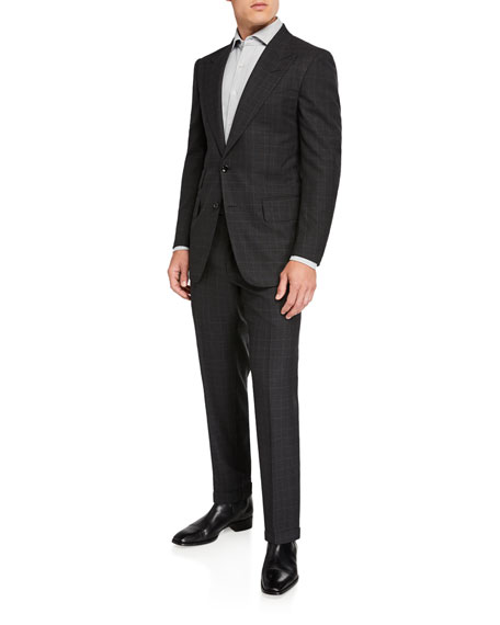 TOM FORD Men's Windsor Prince-of-Wales Check Two-Piece Suit