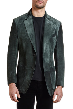 TOM FORD Men's Suede Two-Button Jacket