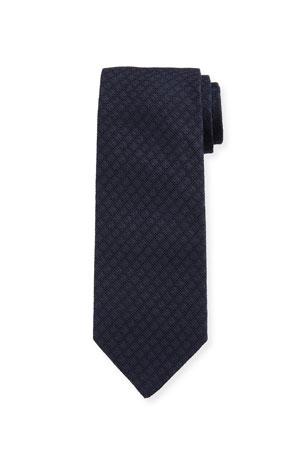 Bigi Men's Solid Silk Jacquard Tie