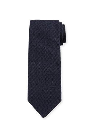 Bigi Men's Solid Silk Jacquard Tie