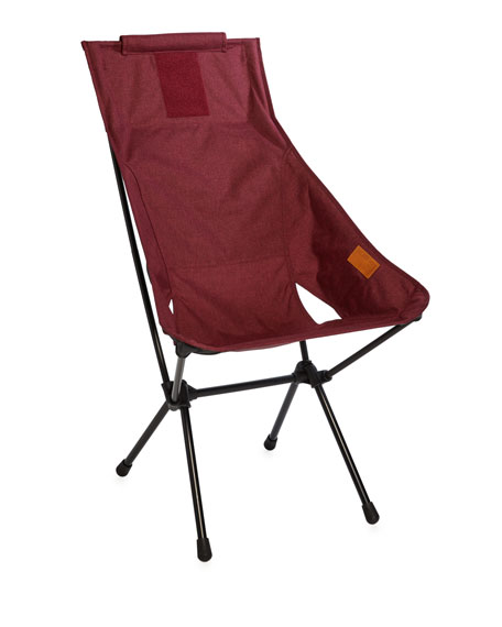 Helinox Foldable Outdoor Sunset Chair, Dark Red