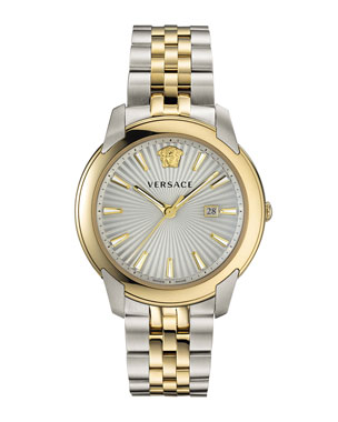 f8eac81d6505 Versace Men s Urban Bracelet Watch w  Gold IP Trim