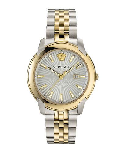 Men's Urban Bracelet Watch w/ Gold IP Trim