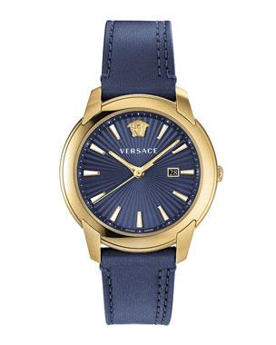 490a8da0e9c Versace Men s 42mm Urban Leather Watch