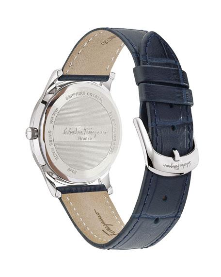 Salvatore Ferragamo Men's Slim Gent 40mm Textured Leather Watch