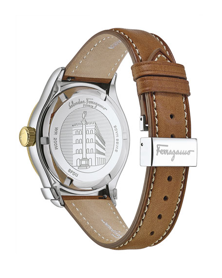 Salvatore Ferragamo Men's 1898 Sport Leather Watch