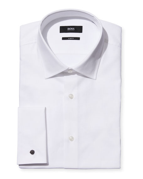 BOSS Men's Slim-Fit Formal Tuxedo Shirt