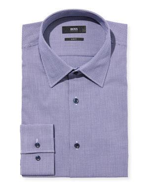 3b942d19f52293 BOSS Men's Slim-Fit Houndstooth Dress Shirt