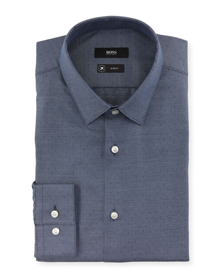 BOSS Men's Slim-Fit Travel Dress Shirt