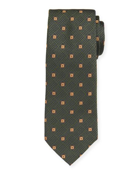 Salvatore Ferragamo Men's Iseo Gancio Silk Tie, Green