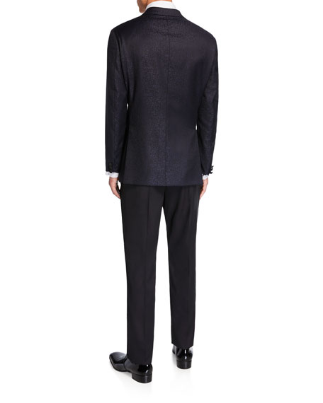 Emporio Armani Men's G-Line Tonal Geo-Pattern Two-Piece Suit