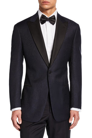 Emporio Armani Men's G-Line Tonal Geo-Pattern Dinner Jacket