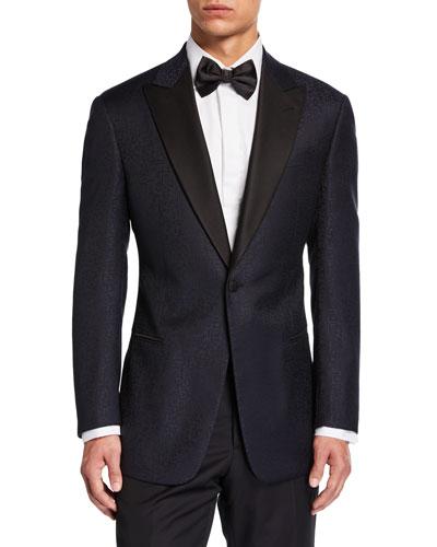 Men's G-Line Tonal Geo-Pattern Two-Piece Suit