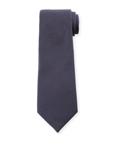 Micro-Neat Silk Tie  Navy