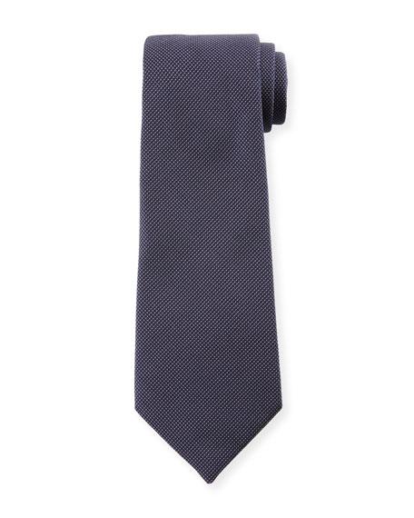 Emporio Armani Micro-Neat Silk Tie, Navy