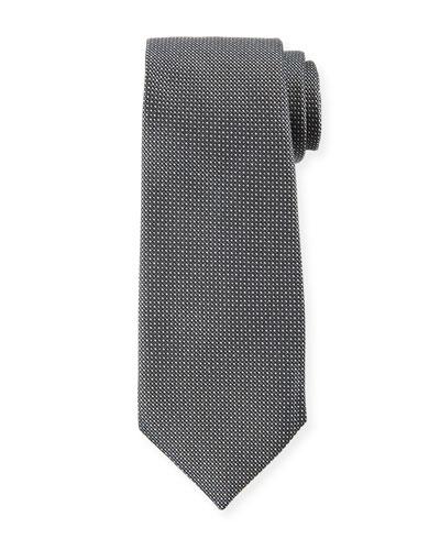 Micro-Dot Silk Tie