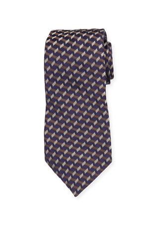 Emporio Armani Multipattern Mulberry Silk Tie