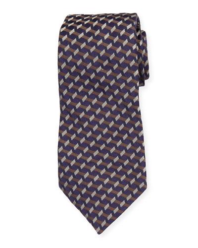 Multipattern Mulberry Silk Tie