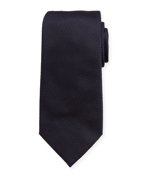 Emporio Armani Solid Textured Mulberry Silk Tie, Teal