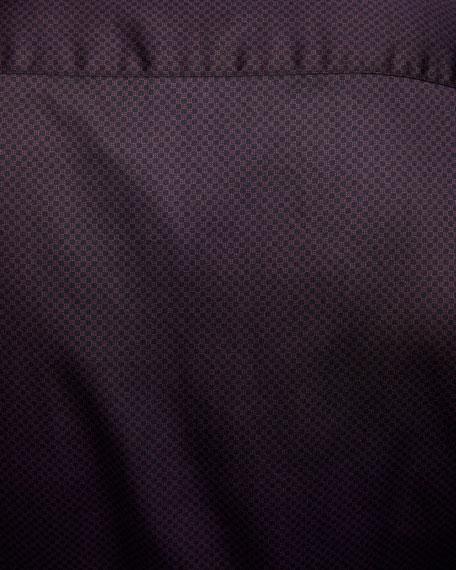 Emporio Armani Men's Micro-Dot Pattern Cotton Sport Shirt