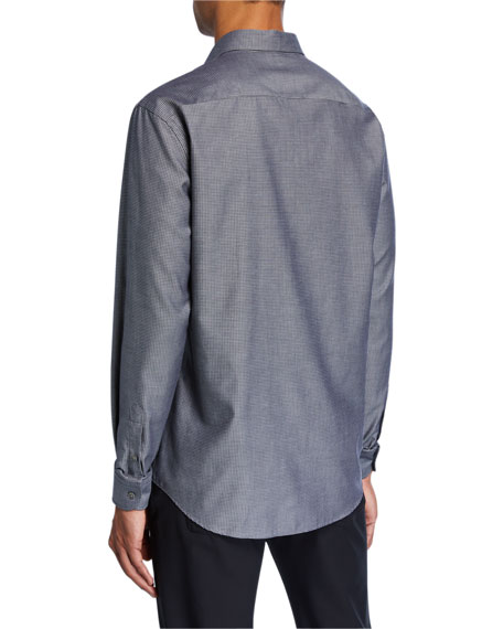 Emporio Armani Men's Micro-Pattern Sport Shirt