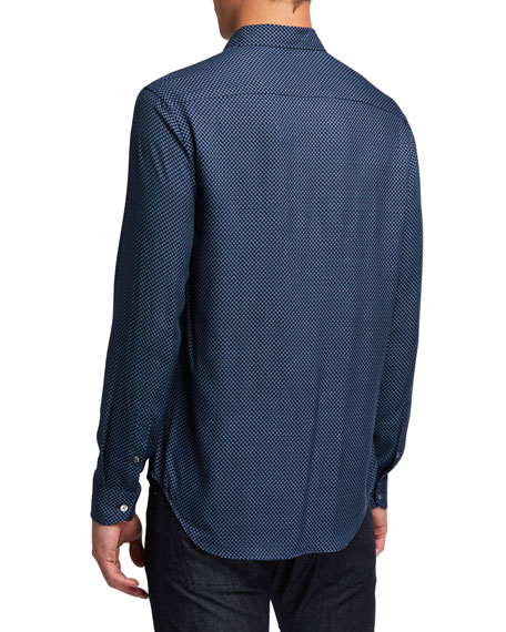 Emporio Armani Men's Double-Check Sport Shirt