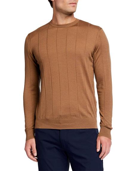 Emporio Armani Men's Fine-Gauge Windowpane Crewneck Sweater