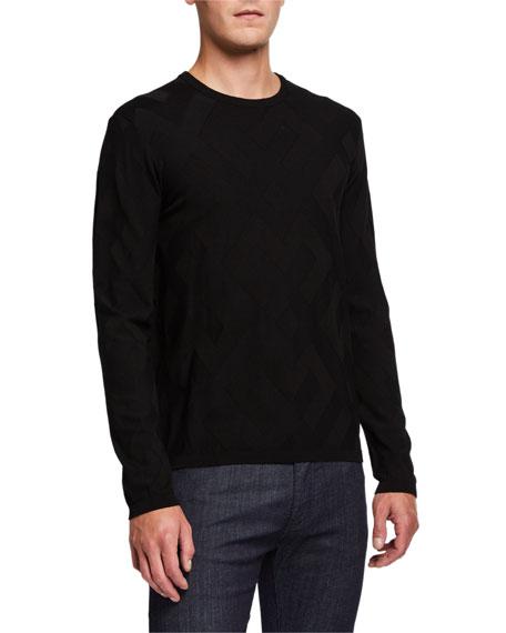 Emporio Armani Men's Crewneck Tonal-Pattern Sweater