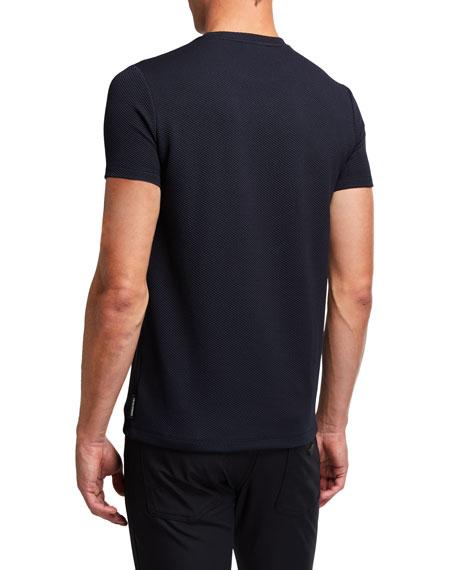 Emporio Armani Men's Herringbone Jersey T-Shirt
