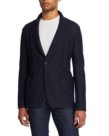 Emporio Armani Men's Textured Two-Button Soft Jacket