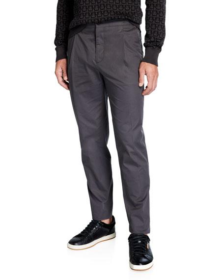 Salvatore Ferragamo Men's Single-Pleat Drawstring Pants