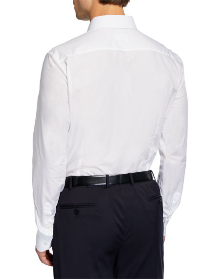 Salvatore Ferragamo Men's Chain Jacquard Sport Shirt