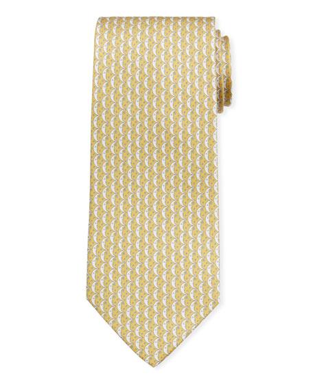 Salvatore Ferragamo Men's Iluna Moon & Stars Silk Tie, Yellow