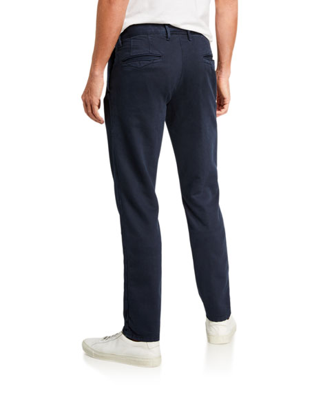 Incotex Men's Slim Flat-Front Washed Chino Pants