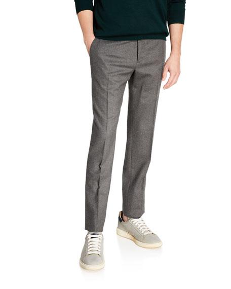 Incotex Men's Techno-Flannel Travel Jogger Pants