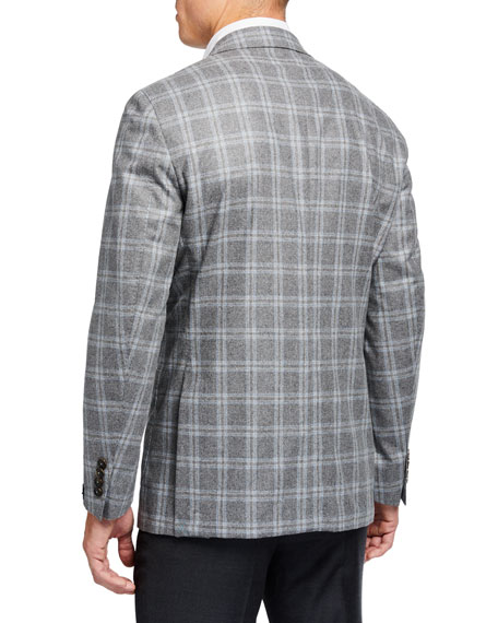 Image 2 of 3: Peter Millar Men's Monterey Windowpane Two-Button Jacket