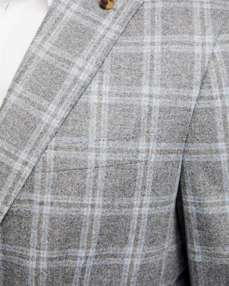 Image 3 of 3: Peter Millar Men's Monterey Windowpane Two-Button Jacket